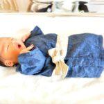 5月8日 次男誕生 昨日着物肌着を着せて退院しました!